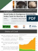Bond Index & Hardgrove Grindability Index