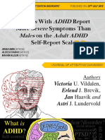 Journal Club - Females With ADHD Report Severe Symptoms Than Males on the ASRS