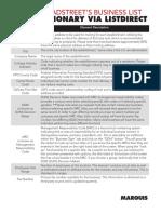 MARQUIS Data Sheet Business Demographics