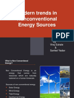 Modern Trends in Non Conventional Energy
