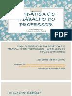 A Didatica e o Trabalho Do Professor