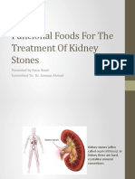 Funcional Food for the Treatment of Renal Stones