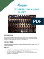 Mixing Workflow Cheat Sheet