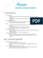 Stereo Width Cheat Sheet