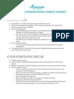Volume Automation Cheat Sheet