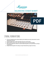 Volume Balancing Cheat Sheet