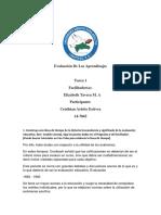 tarea  1 Evaluación De Los Aprendizajes arle.docx