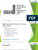 Zinc Mining Global Market Report 2019