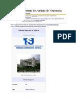 Tribunal Supremo de Justicia de Venezuela.docx