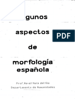 Del Río - Algunos Aspectos de Morfología Española
