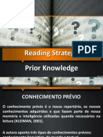 Reading Strategy Prior Knowledge