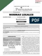 Declaración de Estado de Emergencia en Challhuahuacho  y prórroga del Estado de Emergencia declarado en parte del Corredor Vial Apurímac-Cusco-Arequipa