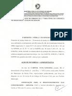 Ação Improbidade Administrativa - ADECOM (Simão Dias)