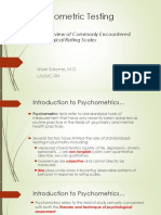 pshychometric testing