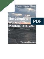 The Complete Works of Thomas Manton, D.D. Vol. 1.pdf
