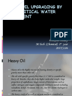 Heavy Oil Upgrading by Supercritical Water Treatment