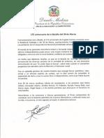 Mensaje del presidente Danilo Medina con motivo del 175 aniversario de la Batalla del 30 de Marzo