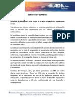 Comunicado de Prensa ADA