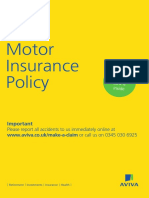 Insurance Motor Car Motor Policy Booklet 241017 NMDMG10249 v3