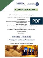 Appel c3a3c2a0 Com Colloque Finance Islamique Cifima2013