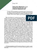 El Monacato Medieval y La Evangelización de Los Pueblos Germánicos