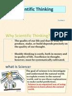 Scientific Thinking L1