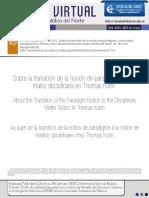 11 Del Paradigma a La Matriz Disciplinar en Kuhn