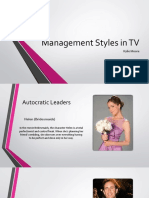 management styles in tv
