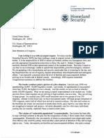 Secretary Nielsen Letter to Members of Congress