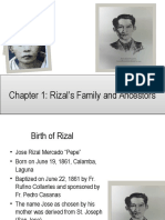 Chapter 1 Rizal's Ancestors and Family