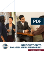 Introduction to Toastmasters Mentoring