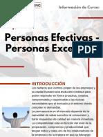 Curso Personas Efectivas - Personas Excelentes