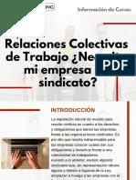 Curso Relaciones Colectivas de Trabajo ¿Necesita mi Empresa un Sindicato?