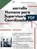 Curso de Desarrollo Humano para Supervisores y Coordinadores