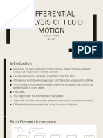 Differential Analysis of Fluid Motion_Lec_Part_1