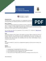 2019 Bermuda to St Andrews Scholarship Guide