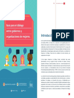 Diálogo entre gobierno y organizaciones de mujeres