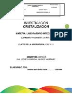Investigación. Cristalización..docx
