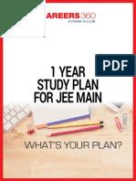 1 Year Study Plan for IIT JEE Main
