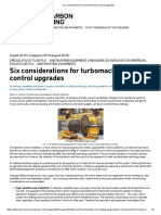 Six Considerations for Turbomachinery Control Upgrades