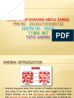 Anemia Introduction