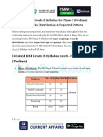 Detailed RBI Grade B Syllabus for Phase I Prelims 2018 Marks Distribution Expected Pattern 1