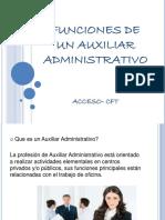 funciones de un auxiliar administrativo