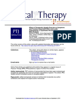 Effect of Therapeutic Aquatic Exercise on Symptoms Osteoarthritis