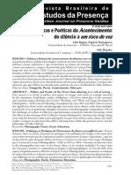 Políticas e Poéticas do Acontecimento