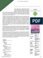 Android – Sistema operacional, breve história.