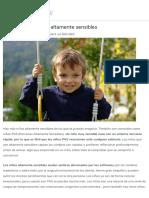 Cómo Son Los Niños Altamente Sensibles - Etapa Infantil