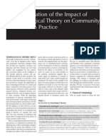 Criminological Theory on Community  Corrections Practice