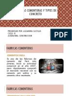 Fabricas Cementeras, Tipos de Concreto