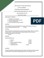 CBU2202201105 Customer Relationship Management
